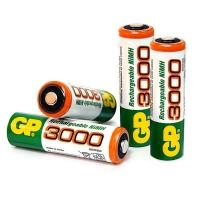 Аккумуляторы GP 3000 mAh AA пальчиковые (4 шт)