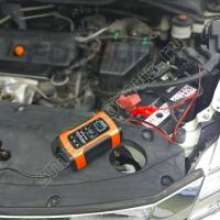 Импульсное зарядное устройство для автомобильного аккумулятора (12В, 6А, ЖК дисплей, AMG/GEL, импульсное, десульфатация, функция восстановления аккумулятора, защита от замыкания, перезаряда, полярности, перегрева)