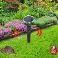 Ультразвуковой отпугиватель кротов, мышей, грызунов, мух, комаров, змей на солнечных батареях